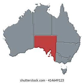 Map - Australia, South Australia