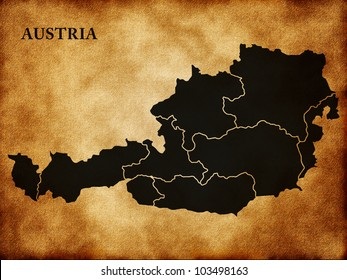 Map of Austria in the old style