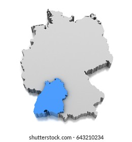 Baden Wurttemberg Map Images Stock Photos Vectors Shutterstock