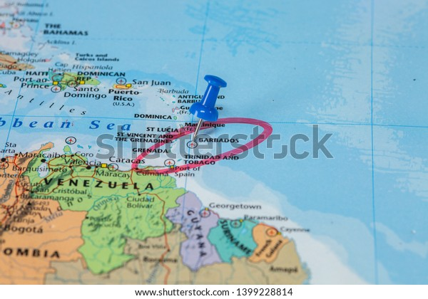 Map Barbados Blue Circle Marker | Miscellaneous, Signs ...