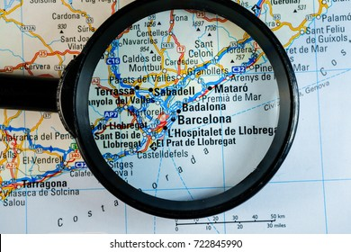 map of barselona  magnifier