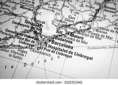 map of barselona  road