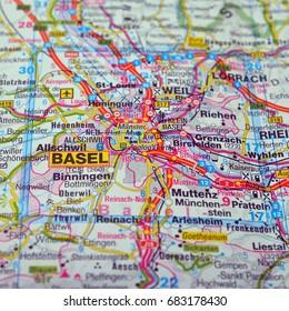 map of basel, switzerland