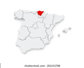Basque Country Map Images Stock Photos Vectors Shutterstock