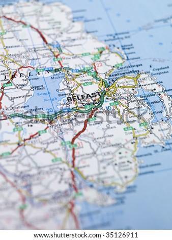 Map Belfast Northern Ireland Stock Photo Edit Now 35126911
