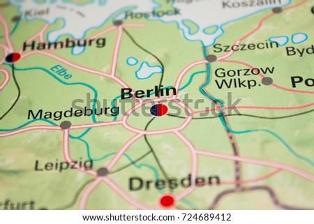 Germany Map Berlin.Map Berlin Germany 2017 Stock Photo Edit Now 724689412 Shutterstock