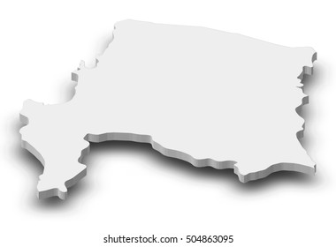 Map - Bio-Bio (Chile) - 3D-Illustration