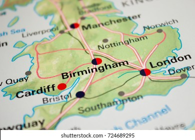 Map of Birmingham, England - 2017