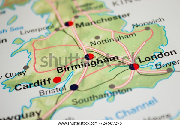 Map Of England Birmingham.Map Birmingham England 2017 Stock Photo Edit Now 724689295