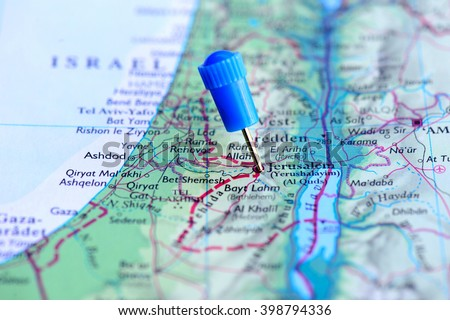 Map Blue Pin Jerusalem Israel Stock Photo (Edit Now) 398794336 ...