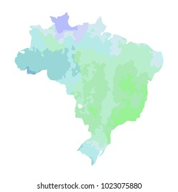 Brazil States Map Images Stock Photos Vectors Shutterstock