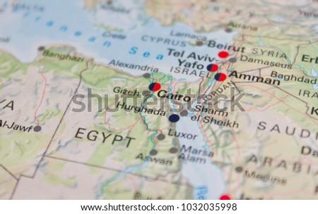 Map Cairo Egypt 2017 Stock Photo Edit Now 1032035998 Shutterstock