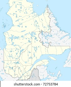 map of canadian or canada province of quebec