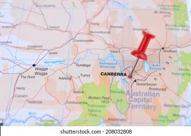 Map of Canberra Australia