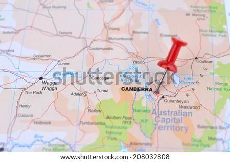 Australia Canberra Map.Map Canberra Australia Stock Photo Edit Now 208032808 Shutterstock