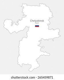 Map of Chelyabinsk Region, Russia
