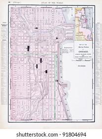Imágenes, fotos de stock y vectores sobre Chicago Road Map