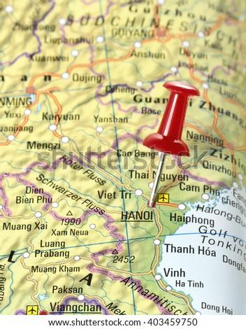 Map China Pin Set On Hanoi Stock Photo (Edit Now) 403459750 ...