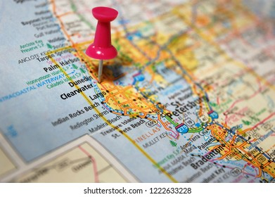 Map Of Clearwater Florida.Florida Highway Map Stock Photos Images Photography Shutterstock