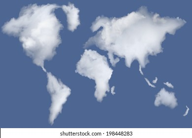 map of the clouds