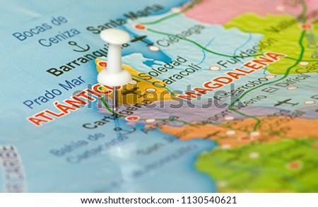 Map Colombia Location Bogota Colombia Marked Stock Photo (Edit Now ...