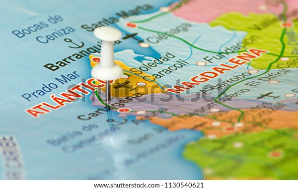 Map Colombia Location Bogota Colombia Marked Stock Photo ...