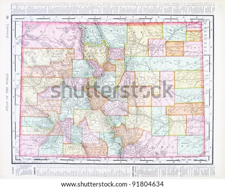 Map Colorado USA Spoffords Atlas World Stock Photo (Edit Now ... on map of st. vincent and the grenadines, map of denver, map of malaysia, kansas map usa, map colorado tourism, map of united states, colorado springs, map virginia usa, map ohio usa, map of united kingdom, park colorado usa, map of isle of man, map of japan, map of egypt, map of co, map of netherlands, map of montenegro, new mexico, united states of america, map of guatemala, map maryland usa, map of india,