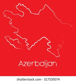 A Map of the country of Azerbaijan