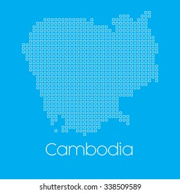 A Map of the country of Cambodia