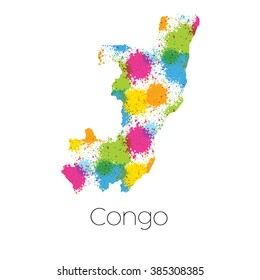 A Map Of The Country Congo