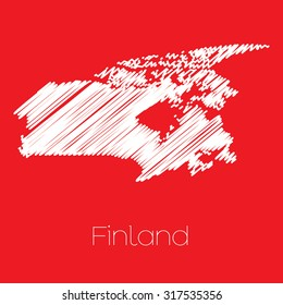 A Map of the country of Finland Finland