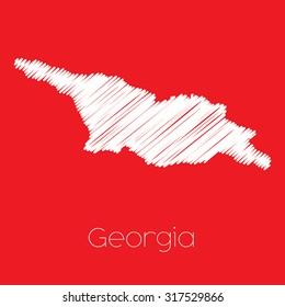 A Map of the country of Georgia Georgia