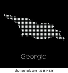 A Map of the country of Georgia