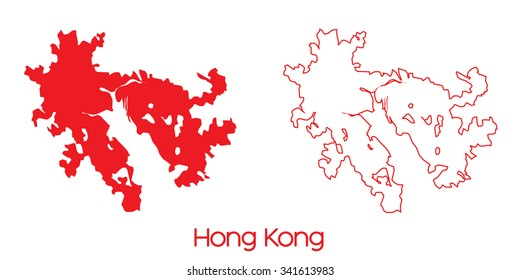 A Map of the country of Hong Kong