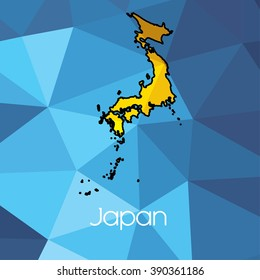 A Map of the country of Japan