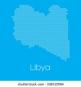 A Map of the country of Libya