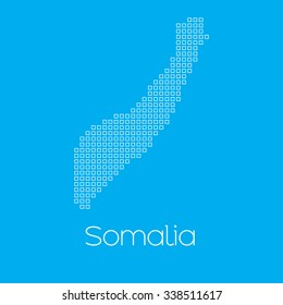 A Map of the country of Somalia