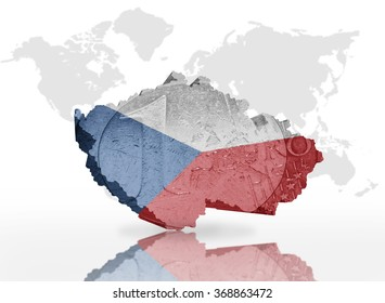 Map tajikistan tajik flag on world stock illustration 225546271 map of czech republic on the euro coin texture with czech republic flag on the a gumiabroncs Image collections