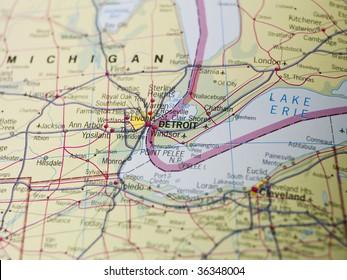 Map of Detroit