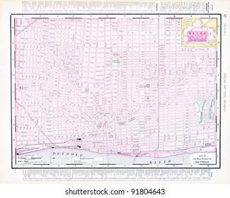 Detroit In Usa Map.Detroit Map Images Stock Photos Vectors Shutterstock
