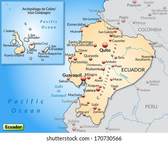 Map Ecuador Overview Map Gray Stock Illustration 171382934