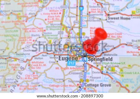 Map Eugene Oregon Stock Photo (Edit Now) 208897300 - Shutterstock on