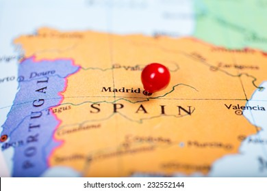 Madrid Spain Pin On Map Images, Stock Photos & Vectors | Shutterstock