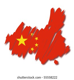map flag China