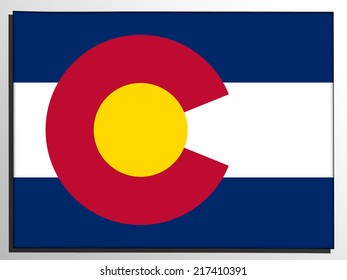 Map with the flag inside - Colorado