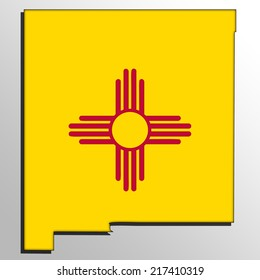 Map with the flag inside - New Mexico