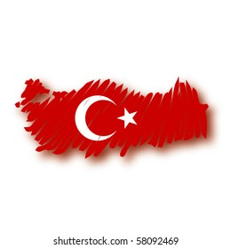 map flag Turkey