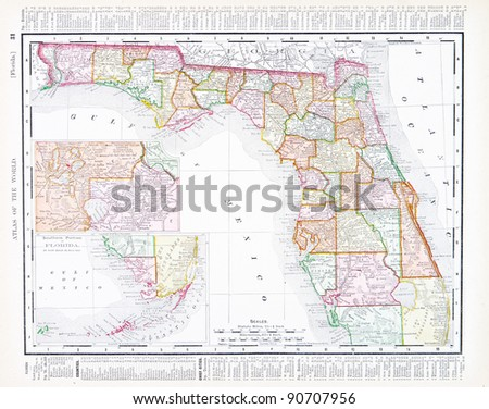 Rand Mcnally Map Of Florida.Map Florida Usa Spoffords Atlas World Stock Photo Edit Now