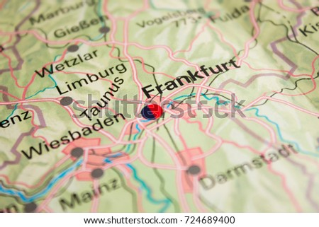 Map Frankfurt Germany 2017 Stock Photo (Edit Now) 724689400 ...