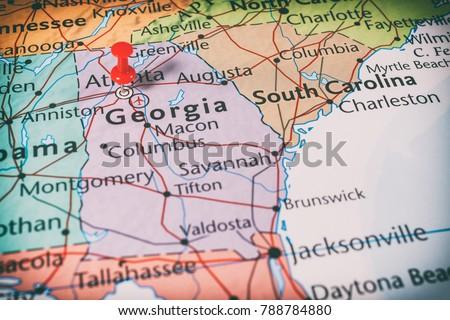 Charlotte Georgia Map.Map Georgia Stock Photo Edit Now 788784880 Shutterstock